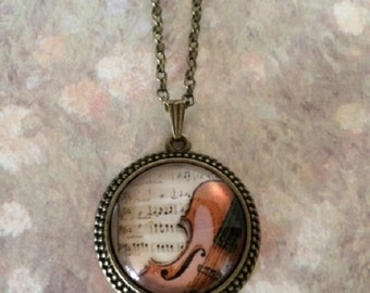 Violin Jewelry - Violin Necklace - Violin Gifts - Music Teacher Gift - Music Gift