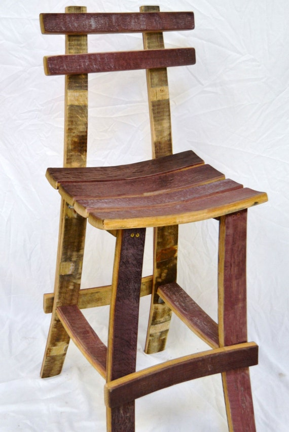 & Wine Barrel Bar Stool w/ back islam-shia.org