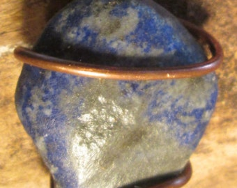 Zen Lovers Lapis Lazuli  Dignity  Pendant,on Handmade Leather by Cosmic Soul Gems