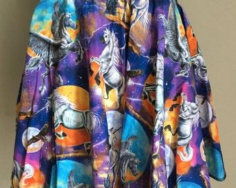 Unicorns in Space mini skirt
