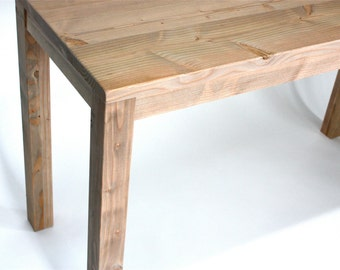 Small Counter Height Kitchen Island in Reclaimed Wood