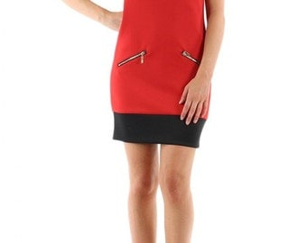 Red Jersey Graphic Dress.