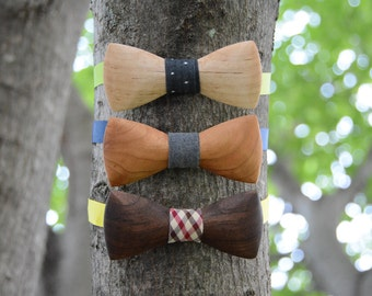 Wooden Bow Ties Domestic Hardwood Wood Bow Ties Mens Bow Ties Groomsmen Gifts Bowties