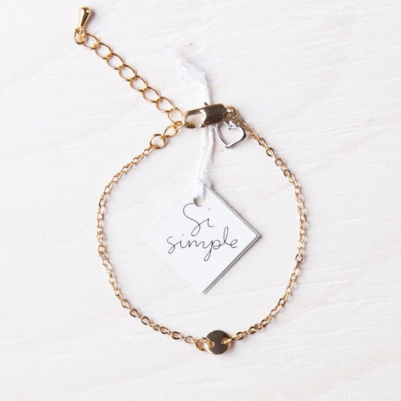 Gold-plated charm bracelet handmade in Montreal