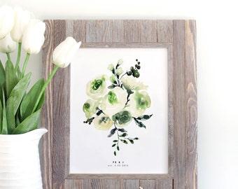 Custom Bridal Bouquet Painting