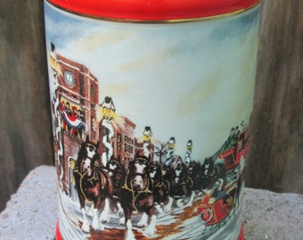 vintage 1992 Budweiser A Perfect Christmas stein
