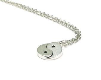 Yin Yang Necklace Silver Chain