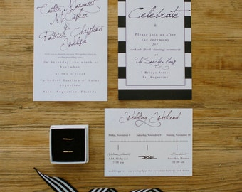 Modern + Minimal Wedding Invitation - Digital / DIY for Modern Weddings + Parties