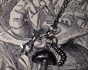 Alice in Wonderland Caterpillar inspired Charm Necklace
