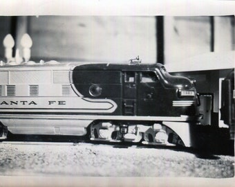 Vintage Photo..Guy Jr.'s Model Train 1940's, Original Found Photo, Vernacular Photography, American Social History Photo, Old Photo Snapshot