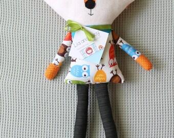Fox Cloth Doll, Fabric Rag Doll, Boy Doll