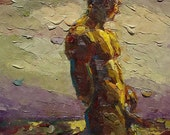 """Gay Art, Gay Painting,  Male Nude Fine Art Painting - """"Complex Heart"""""""