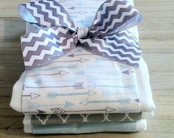 Falling Arrows Burp Cloth Set - Baby Shower Gift