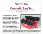 Set To Go Cosmetic Bag Set PDF Pattern