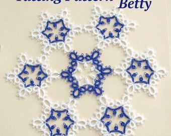 Snowflake Doily Tatting Pattern Betty