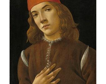 Italian Renaissance Portrait Botticelli Painting Print