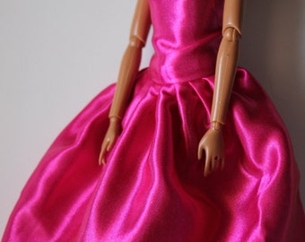 pink gown for 11.5 Fashion doll (53)