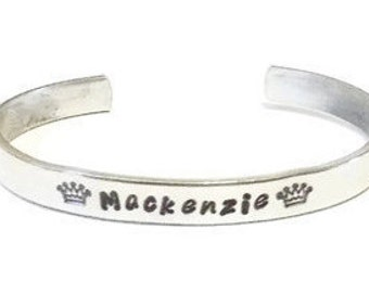 Crown Bracelet - Name Bracelet - Custom Bracelet - Princess Jewelry - Pageant Jewelry - Queens Crown - Princess Crown - Kids Jewelry