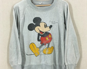 Vintage Distressed 70s/80s Mickey Mouse Sweatshirt Size Medium
