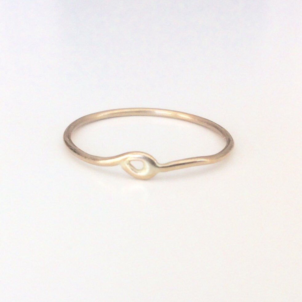 Chevron Solid Gold Ring Marked  K