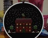 Christmas House Cross Stitch Pattern