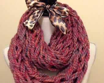 Rainbow Arm Knit Infinity Scarf