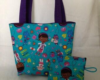 Doc McStuffins Bag, Disney Doc McStuffins Toto Bag, Toddler Bag, Travel Bag, Overnight Bag, School bag, Kids Doctor Bag, Handmade Bags