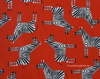 Zebra Fabric, Jungle Party 15061 Robert Kaufman, Edward Miller, Jungle Fabric, Zoo Animal Quilt Fabric, Cotton
