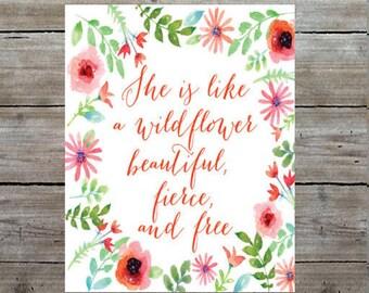 Girly Wall Art - Girl Nursery Art - Kids Room - Quote Art Print - Nursery Decor - Baby Gift