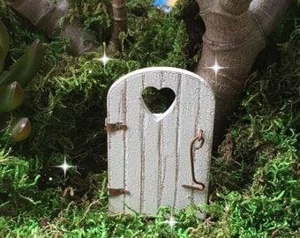 Fairy garden gate, miniature gate, miniature fence, heart gate, tiny wood gate, mini wooden gate, fairy garden supplies, fairy accessories