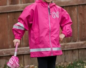 Monogrammed Charles River Rain Jacket | New Englander Rain Jacket | Youth Rain Jacket | Personalized Rain Jacket | Girls Rain Jacket