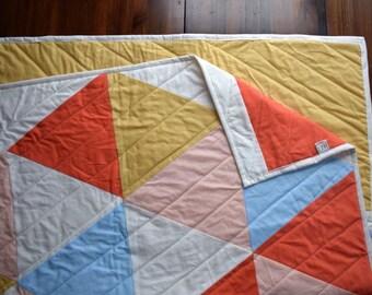 The Happy Hexi Quilt | Modern Hexagon Quilt