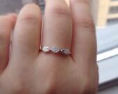 Opal Ring   Opal Band Ring   White Opal Ring   Sterling Silver Opal Ring   Silver Rings For Women   girlfriend