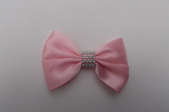 Pink Satin Bling Hairbow