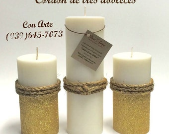 "Candle Artisan Inspired by the Holy Spirit ""Threefold cord"""