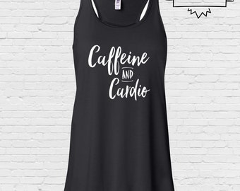 Caffeine and Cardio Racerback Gym Vest