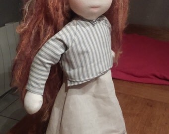 Damsel Estelle, doll style Waldorf to the slightly sculpted face
