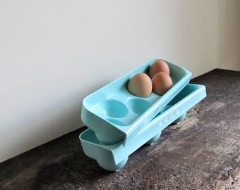 2 Vintage Refrigerator Egg Trays