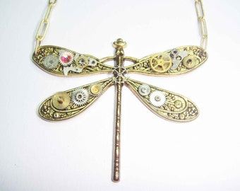 Micro-Mechanical Dragonfly Necklace