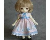 for Tiny BJD -Puki Puki, Lati White, Obitsu11 - Tiny silhouette Pink -OP