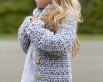CROCHET PATTERN-The Dusklyn Sweater (2, 3/4, 5/7, 8/10, 11/13, 14/16, S/M, L/XL sizes)