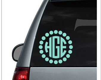 Car Monogram Decal Etsy - Monogram decal on car