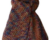 Hand Knit Scarf - Kiki Copper Hand Paint Alpaca, Silk & Wool