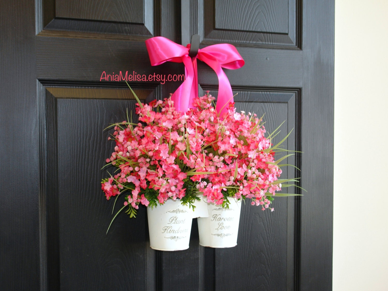 Spring Wreath Summer Wreath Front Door Wreaths By Aniamelisa