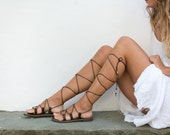 Gladiator sandals, Greek sandals handmade of high quality leather. Available in 6 colors. DEMETRA02