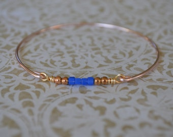 Closeout item------ -BABY Bangle Bracelet -Bridesmaids Gifts-Mom Gift Bracelet- Blue Crystal Bangle Bracelet- Jewelry.