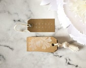 Christmas Gift Tags - 'Joyeux Noël' (Set of 10) - Kraft Tags, White Tags, Christmas Gift Wrap, christmas favor tags, family gift tags, tags