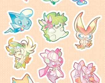 Legendary Pokemon Stickers