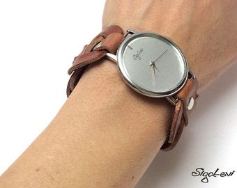 Women Watches-Leather Cuff Watch-Women's Watch-Cuff Watches-Woman Watch-Wide Wrist Watch-Tatoo Cover-Watch-Bracelet Watch-Watches-Watch