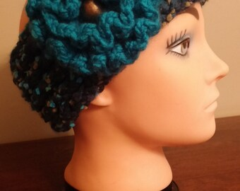 Turquoise headband/earwarmer